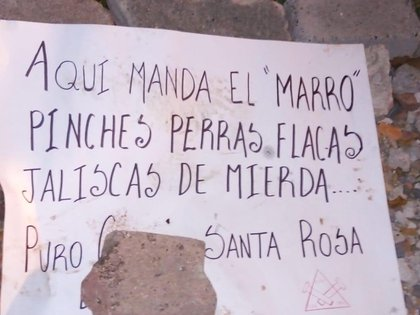 Los presuntos huelguistas del Cartel de Santa Rosa de Lima criaron, desmantelaron y abandonaron a varios hombres que estaban en el Ayuntamiento de Salamanca (Foto: Twitter / fernand17704066)