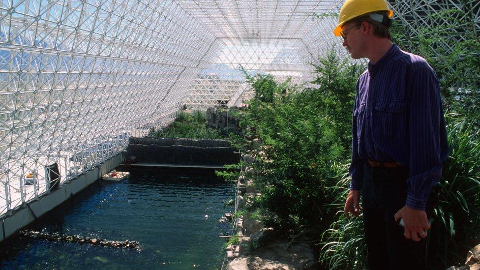 Interior del edificio principal de Biosphere 2.