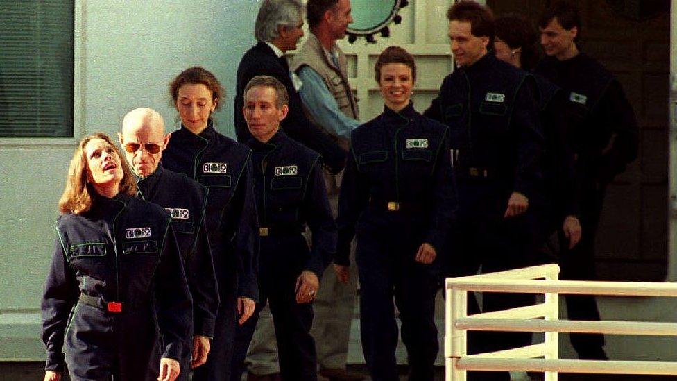 Participantes de la biosfera 2.