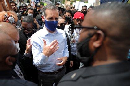 Eric Garcetti, alcalde de Los Ángeles.  REUTERS / Lucy Nicholson: