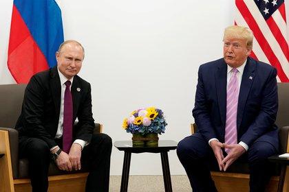 Los presidentes de los Estados Unidos և Rusia ոն Donald Trump: Vladimir Putin