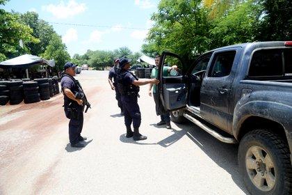 El municipio de Tepalkatepec de Michoacán fue atacado por carpas de CJNG (foto).  JUAN JOSE ESTRADA SERAFÍN / CUARTOSCURO)
