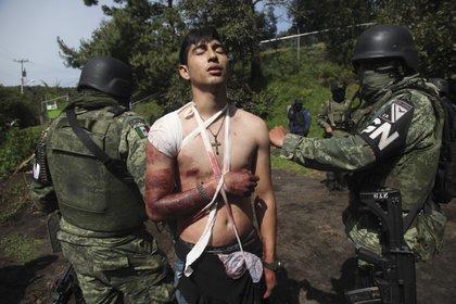 Un residente del municipio de Los Rice que participó en una encrucijada con miembros de CJNG (foto de JUAN JOSÉ ESTRADA SERAFÍN / CUARTOSCURO)