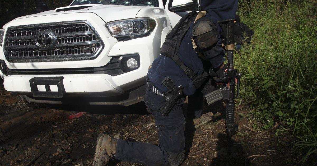 Narco es cero en México.  Jalisco Rayos X del límite de Michoac, enclave CJNG