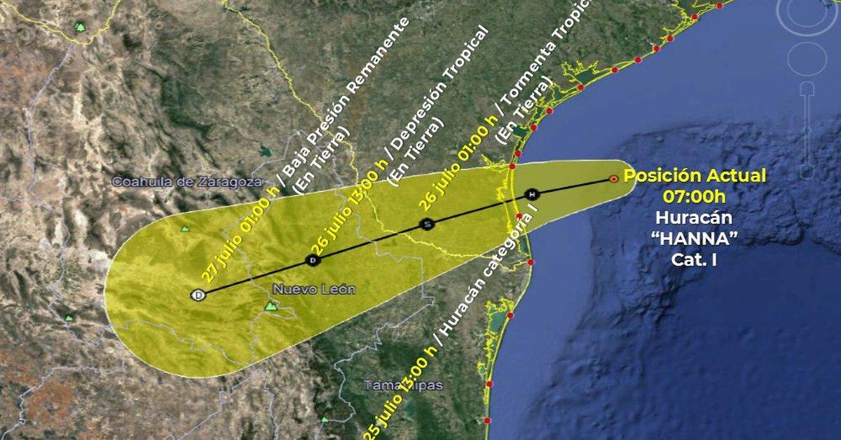 Hannah ya es una tormenta de primer grado que se acerca a las costas de Tamaulipas