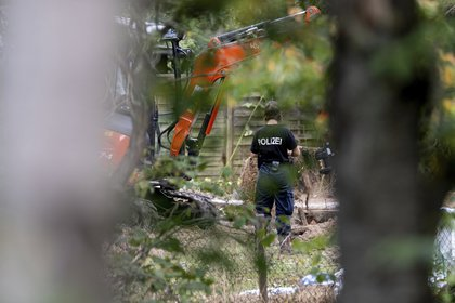 Según la prensa alemana, el área buscada por la policía está cerca del lugar donde vivía Bruckner.  (Vía Peter Steffen / dpa AP)