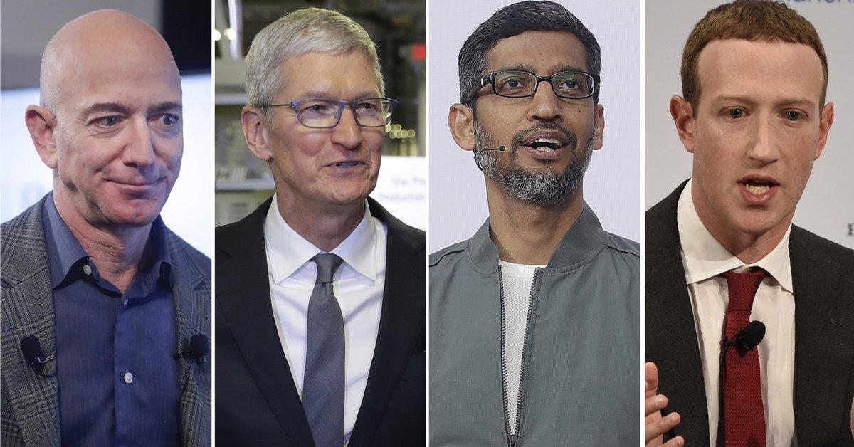 Un día después de aparecer en el Congreso de EE. UU., Amazon, Apple, Google y Facebook anunciaron enormes ganancias
