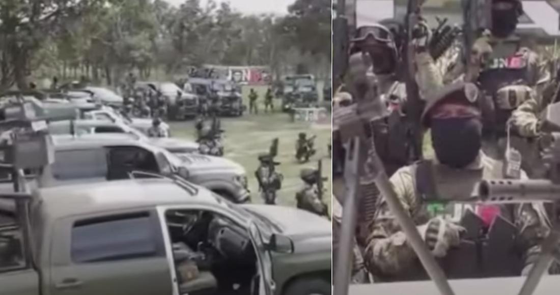 """CJNG muestra poder en nuevo VIDEO, donde se niega a luchar con el Gobierno, pero con """"Maro"""""""