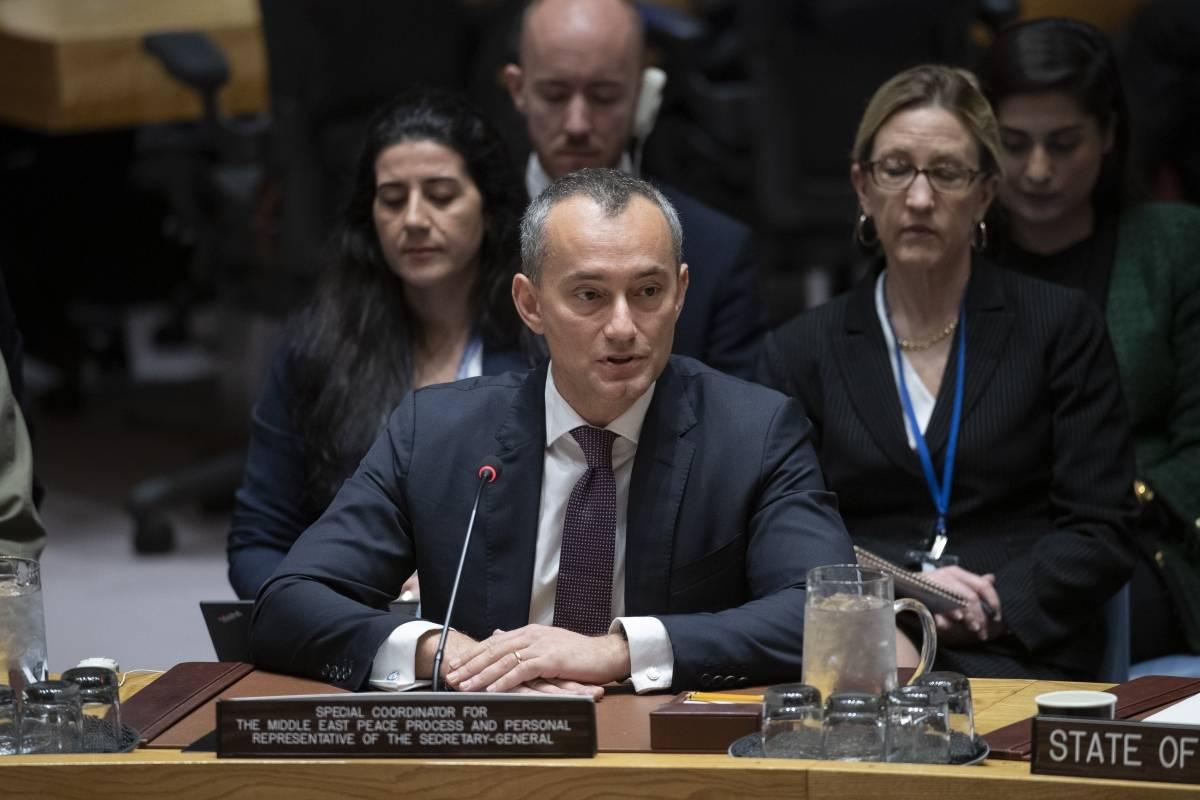 Coronavirus - Mladenov dice que la falta de coordinación de Israel entre la Autoridad Palestina perjudica la respuesta