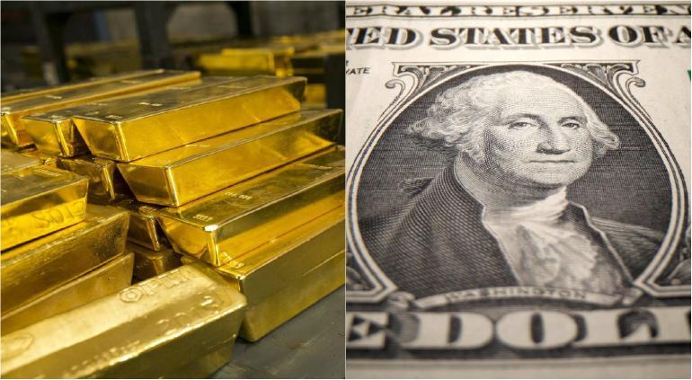 El dólar se está derrumbando;  devoluciones estándar de oro.  economista