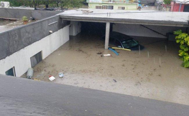 """Reportan inundaciones y daños a viviendas por paso de """"Hanna"""" en Reynosa"""