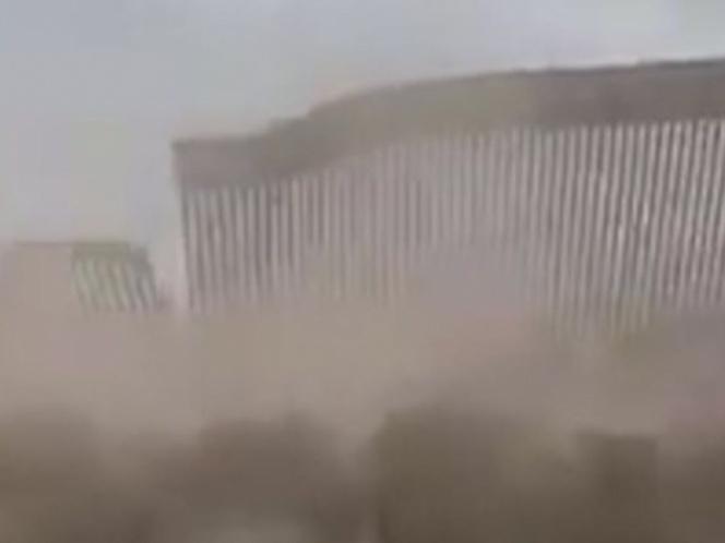 Los vientos de Hannah golpean el muro fronterizo de Trump