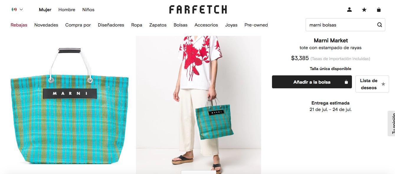 Marni copia las bolsas de supermercado de Zara y las vende por 3,000 pesos