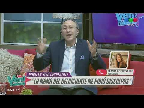 ROBERY VIDA Y PERIODISTA EN VIVO Flavia Fochesato