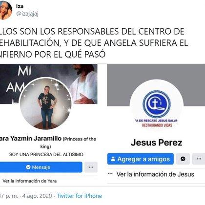 El usuario que narra los hechos condena directamente a los responsables del centro de rehabilitación donde murió Ángela.  (Foto: captura de pantalla)