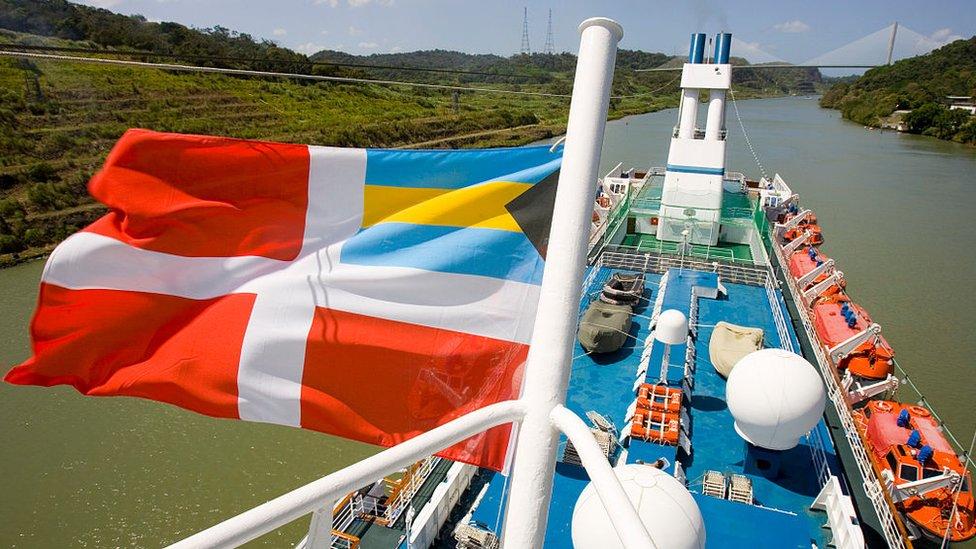 Navegación de bandera en las Bahamas
