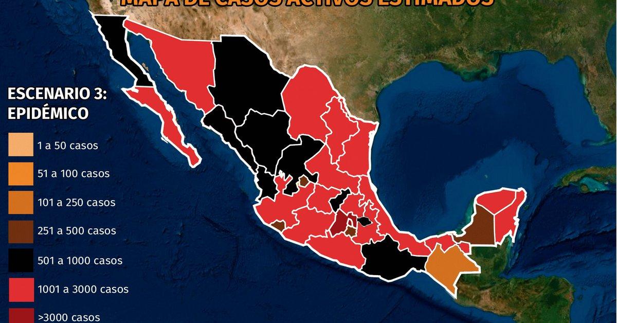 Mapa de Coronavirus el 9 de agosto.  Nayarit, Nuevo León և Alarma en Colima por hacinamiento en hospitales