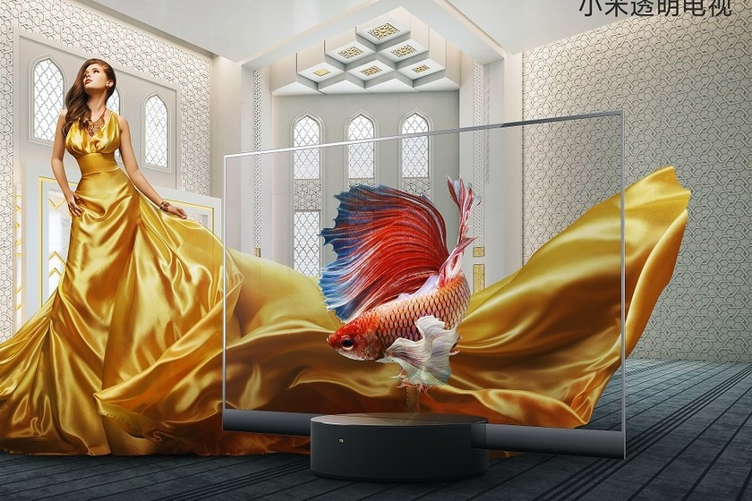 Xiaomi no solo está fabricando televisores 4K, sino también impresionantes televisores OLED transparentes.