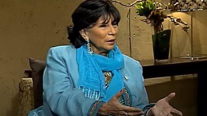 En una entrevista de 2012, Mónica Miguel compartió detalles sobre su encuentro con Fellini (Capture YouTube Once Once TV)