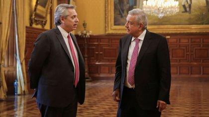 Fernández - Presidente de Argentina նախագահ El presidente de México López Obrador, acordó producir las vacunas (Foto cortesía de la Presidencia mexicana)