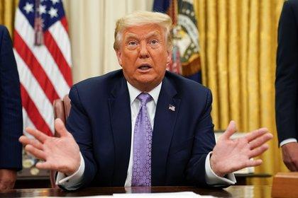 El acuerdo es una victoria diplomática para el presidente de Estados Unidos, Donald Trump (REUTERS / Kevin Lamarck)