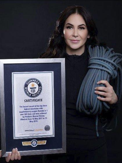 Mexicana recibe récord mundial Guinness (Foto: Guinnessworldrecords.es)