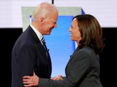 Biden se une a la senadora Kamala Harris como vicepresidente