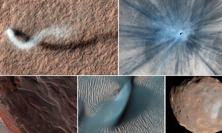 """La NASA comparte imágenes del """"diablo de polvo"""" en Marte"""