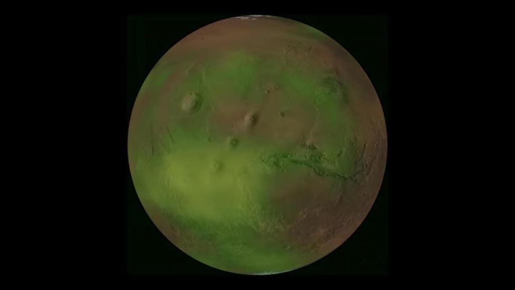 Aquí están los pulsos de luz ultravioleta de Marte