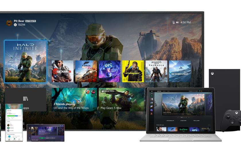 Microsoft presenta el diseño de la interfaz Xbox Series X, llegará a Xbox One, incluso a los teléfonos inteligentes Android