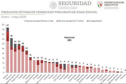 Femicidios México (Foto de la Secretaría de Seguridad Civil)