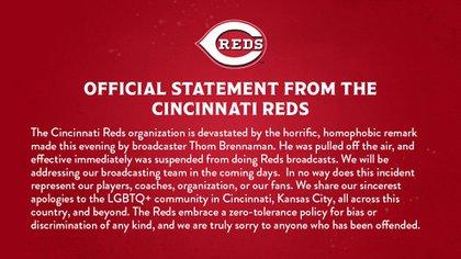 Declaración de Inc incinct Reds