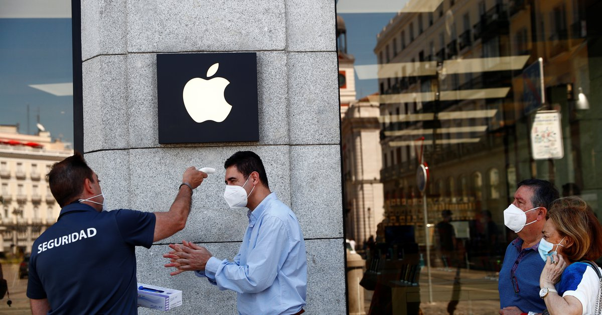Apple ha cerrado sus tiendas en Madrid por el brote de coronavirus
