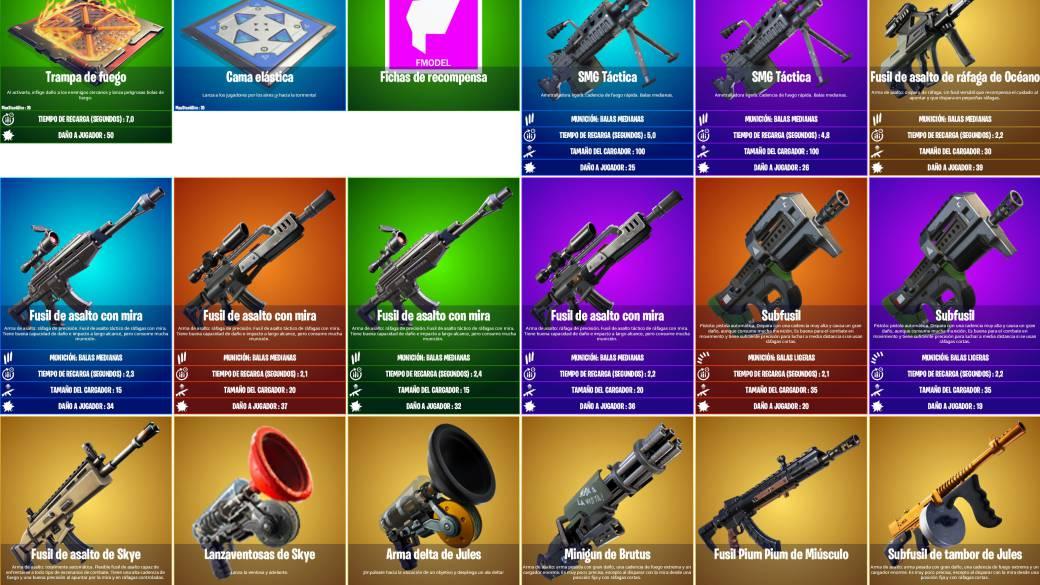 Fortnite Season 4. Todas las armas legendarias ված modificadas del parche 14.00