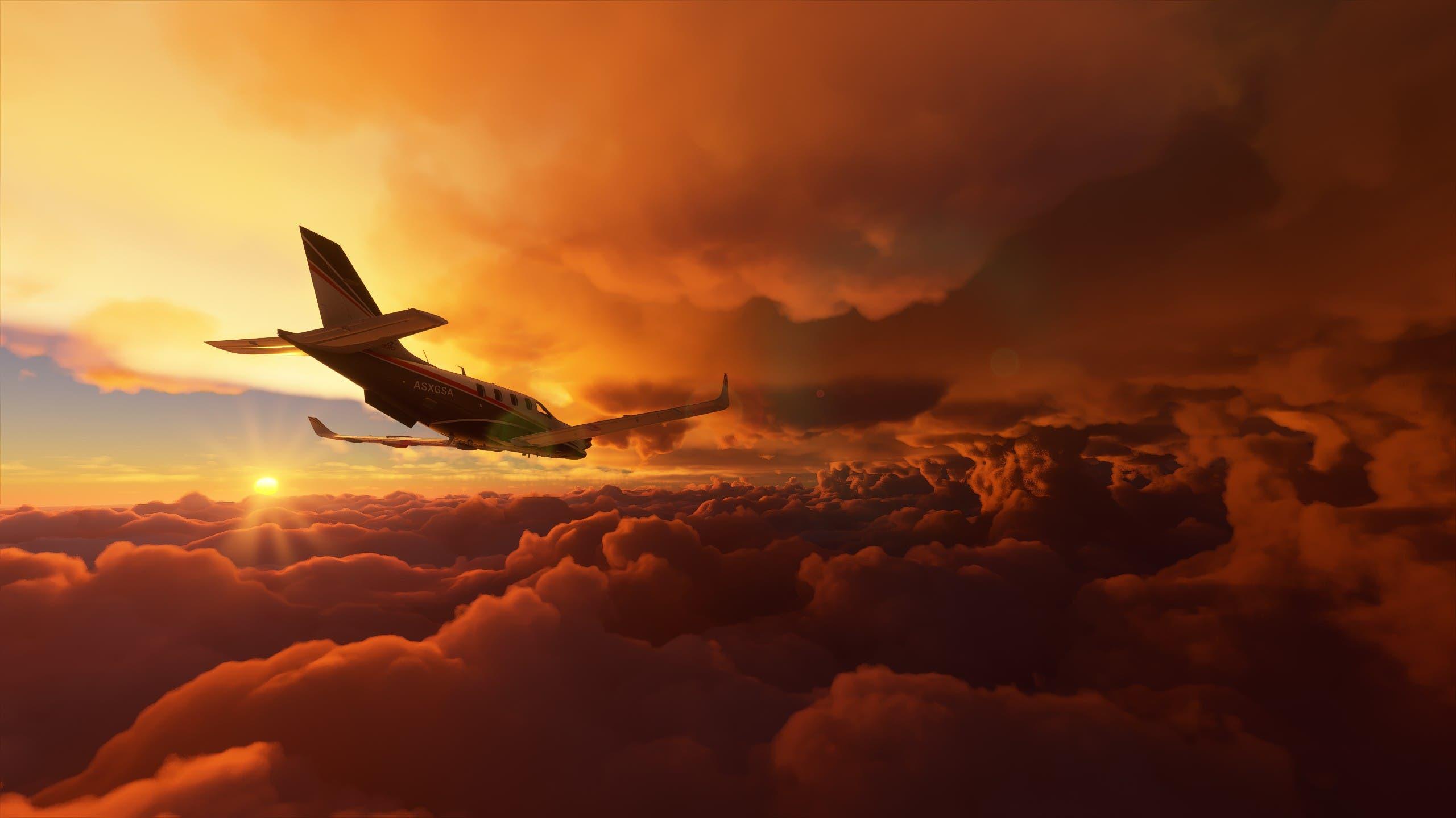 Microsoft Flight Simulator incluye el huracán Laura