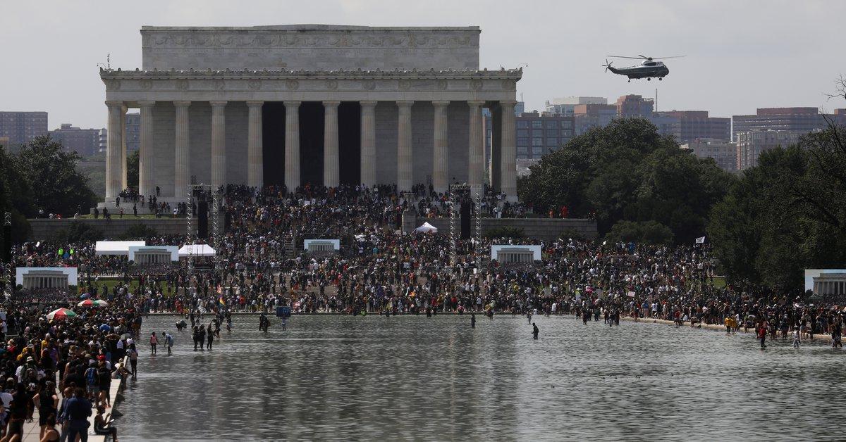 57 años después de la Marcha en Washington liderada por Martin Luther King, Jr., el mitin se reanudó en los Estados Unidos.