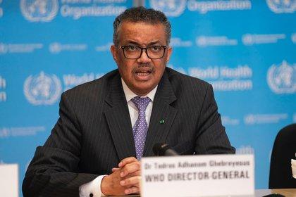 El Director General de la Organización Mundial de la Salud (OMS), Tedros Adhanom Gabriesus