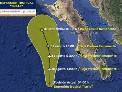 Trayectoria y evolución de Isel en los próximos días (Foto de SMN / Conagua Clima)