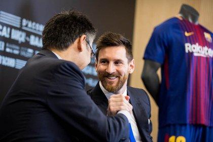25/11/2017 Josep Maria Bartomeu Leo Messi FÚTBOL EUROPEO VEINTE J JOSEP MARIA BARTOMEU