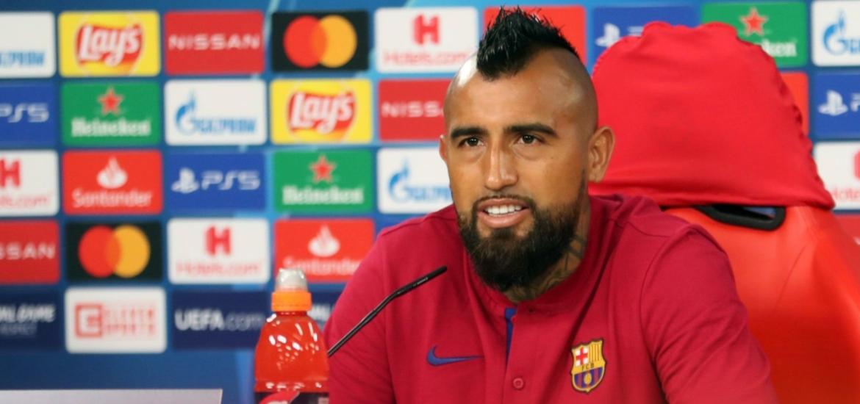 """Arturo Vidal.  """"Mañana no jugarán contra los equipos de la Bundesliga, pero jugarán contra el Barcelona, el mejor equipo del mundo""""."""