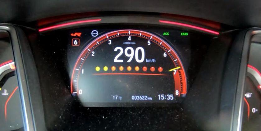 Así, el Honda Civic Type R alcanza los 290 km / h.