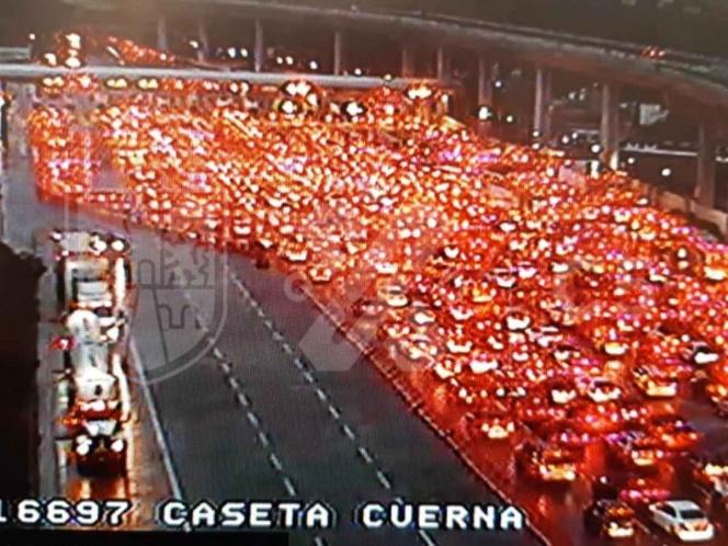 Coronavirus.  Así es como llenan las luces naranjas de México-Cuernavaca