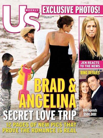 Angelina Olli և Brad Pitt fotos que molestaron a Enn Enifer Aniston