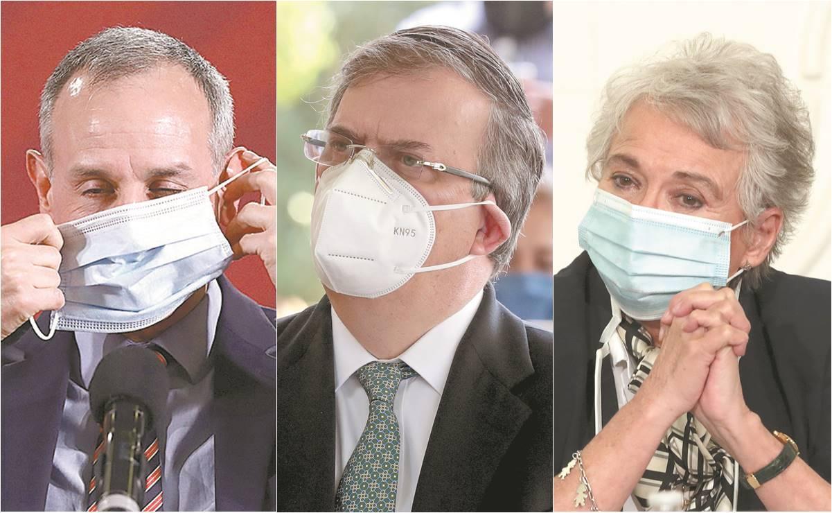 El gabinete usa mascarillas ... cuando AMLO no las ve