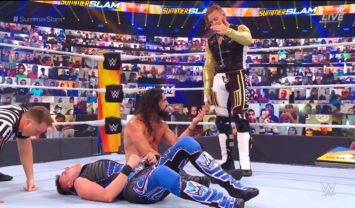 Festival de verano.  Dominic Mystery perdió ante Seth Rollins en su debut en la WWE