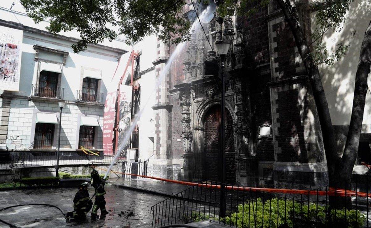 Reportan, otra vez, fuego en la Parroquia Santa Veracruz