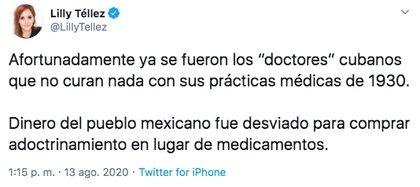 """El senador del PAN señaló un """"Adoctrinamiento"""" Gobierno contrata personal médico cubano (Foto: Twitter)"""