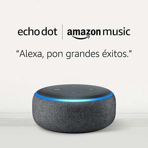 Echo Dot (3.a generación) - Tejido antracita + Amazon Music ilimitado por 19,98 euros