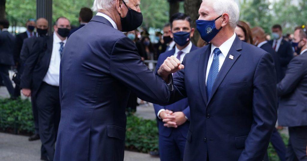 Joe Biden y Mike Pence rinden homenaje a las víctimas del 11 de septiembre en EE. UU.