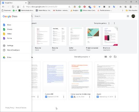 Alternativa de Google Docs a Microsoft Office: